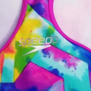 Speedo Swim - Speedo Tie Dye Sky Racerback One Piece - 16 - NWT